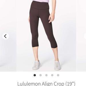 Lululemon align crops